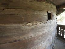 Iglesia de madera, pueblo de Jercălăi, el condado de Prahova Fotografía de archivo