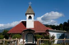 Iglesia de madera - Rio Tranquilo - Chile Fotografía de archivo