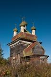 Iglesia de madera rusa Fotografía de archivo
