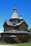 Iglesia de madera rusa Fotos de archivo libres de regalías