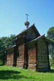 Iglesia de madera rusa Imágenes de archivo libres de regalías