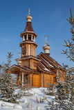 Iglesia de madera Rusia Fotos de archivo