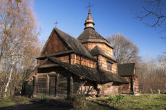 Iglesia de madera vieja Imagenes de archivo