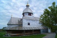 Iglesia de madera vieja de St Nicolás imágenes de archivo libres de regalías