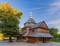 Iglesia de madera vieja en Kamenetz Podolsky Fotos de archivo