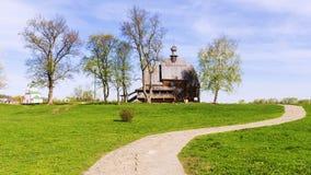 Iglesia de madera vieja en la ciudad antigua de Suzdal anillo de oro del Ru Fotos de archivo