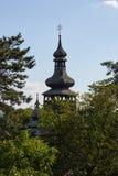 Iglesia de madera vieja en Mukachevo Zakarpatska Oblast Fotos de archivo