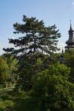 Iglesia de madera vieja en Mukachevo Zakarpatska Oblast Imágenes de archivo libres de regalías