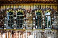 Iglesia de madera Windows Fotos de archivo libres de regalías