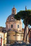 Iglesia de Maria al Foro Traiano de los di de Santissimo Nome en Roma, Italia Foto de archivo libre de regalías