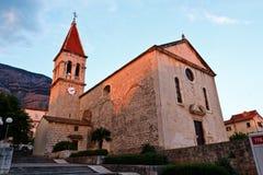 Iglesia de Markâs del santo en Makarska Fotografía de archivo