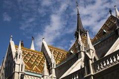 Iglesia de Matías en Buda, Budapest foto de archivo