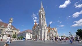 Iglesia de Matías en Budapest almacen de metraje de vídeo