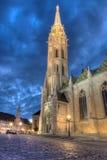 Iglesia de Mathias Rex en Budapest Imagenes de archivo