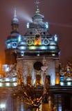 Iglesia de Michael del lightsSt de la ciudad de Lviv Fotografía de archivo