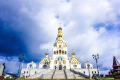 Iglesia de Minsk de todo el frontal de los santos imágenes de archivo libres de regalías