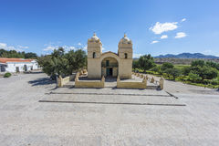 Iglesia de Molinos en la ruta 40 en Salta, la Argentina. foto de archivo libre de regalías