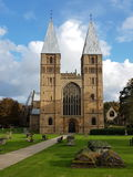 Iglesia de monasterio Cathederal, ciudad real de Southwell de Southwell Nottinghamshire Fotografía de archivo