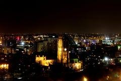 Iglesia de monasterio de Leeds en la noche Imágenes de archivo libres de regalías