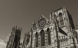 Iglesia de monasterio de York de la sepia Fotografía de archivo libre de regalías