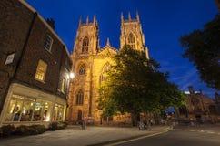 Iglesia de monasterio de York en la oscuridad Fotos de archivo libres de regalías