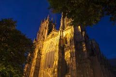 Iglesia de monasterio de York en la oscuridad Fotografía de archivo libre de regalías