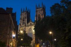 Iglesia de monasterio de York en la oscuridad Fotos de archivo