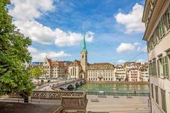 Iglesia de monasterio Fraumunster, Zurich Imágenes de archivo libres de regalías