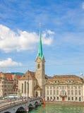Iglesia de monasterio Fraumunster, Zurich Imagen de archivo libre de regalías