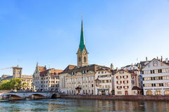 Iglesia de monasterio Fraumunster, Zurich Fotos de archivo
