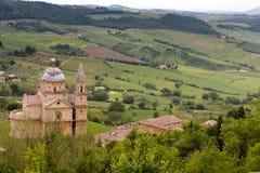 Iglesia de Montepulciano Imágenes de archivo libres de regalías