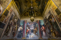 Iglesia de Monti del dei de Trinita, Roma, Italia Foto de archivo libre de regalías