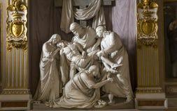 Iglesia de Monti del dei de Trinita, Roma, Italia Imagen de archivo libre de regalías