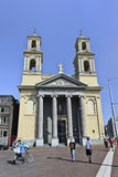 Iglesia de Moses y de Aaron en el centro de Amsterdam, Países Bajos Imagen de archivo