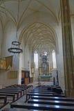 Iglesia de Mosna en Transilvania fotos de archivo