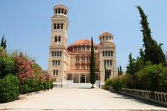 Iglesia de Nektarios de los agios en la isla de Aegina Imagenes de archivo