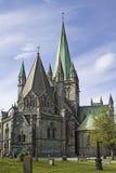 Iglesia de Nidaros en Strondheim Fotografía de archivo