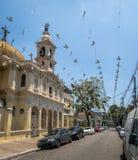 Iglesia de Nossa Senhora Achiropita en la vecindad de Bixiga - Sao Paulo, el Brasil fotos de archivo libres de regalías