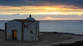 Iglesia de Nossa Senora Graca, Fortaleza de Sagres, Portugal Stock Image