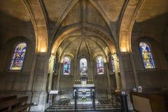 Iglesia de Notre Dame de la compassion, París, Francia Fotos de archivo