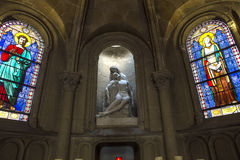Iglesia de Notre Dame de la compassion, París, Francia Imagen de archivo