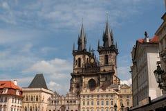Iglesia de nuestra señora antes de Týn imagen de archivo libre de regalías