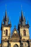 Iglesia de nuestra señora antes de Tyn Fotografía de archivo libre de regalías
