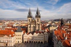 Iglesia de nuestra señora antes de Tyn en Praga Imagen de archivo libre de regalías