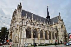 Iglesia de nuestra señora bendecida del Sablon en Bruselas, Bélgica imagenes de archivo