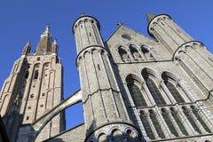 Iglesia de nuestra señora - Brujas - Bélgica Foto de archivo libre de regalías