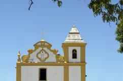 Iglesia de nuestra señora de la ayuda en el d'Ajuda Bahía de Arraial Fotografía de archivo