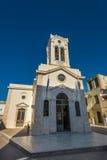 Iglesia de nuestra señora de los ángeles Rethymno Fotos de archivo libres de regalías