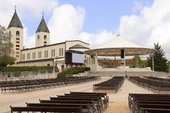 Iglesia de nuestra señora en Medjugorje en Bosnia y Hercegovina Imagenes de archivo
