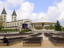 Iglesia de nuestra señora en Medjugorje en Bosnia y Hercegovina Foto de archivo libre de regalías